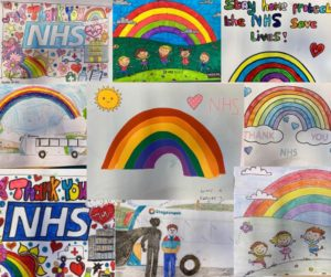 Image of artwork drawn by children of our trust staff