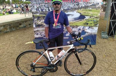 Omar Hossain at the Cape Argus cycle event.