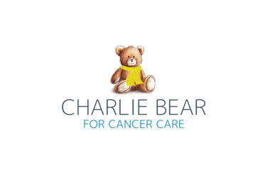 Charlie Bear for cancer care logo.