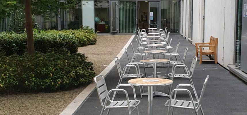 A collection of outdoor seating