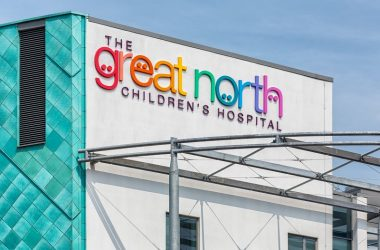 The Great North Childrens Hospital sign.